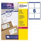 Etichetta adesiva L7166 - permanente - 99,1x93,1 mm - 6 etichette per foglio - bianco - Avery - conf. 100 fogli A4