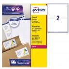 Etichetta adesiva L7168 - permanente - 199,6x143,5 mm - 2 etichette per foglio - bianco - Avery - conf. 100 fogli A4