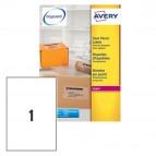 Etichetta adesiva L7567 - poliestere - adatta a stampanti laser - permanente - 210x297 mm - 1 etichetta per foglio - trasparenti - Avery - conf. 25 fogli A4