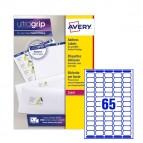 Etichetta adesiva L7651 - permanente - 38,1x21,2 mm - 65 etichette per foglio - bianco - Avery - conf. 25 fogli A4