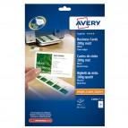 Biglietti da visita - 85 x 54 mm - 200 gr - effetto opaco - bianco - Avery - conf. 25 fogli da 10 biglietti