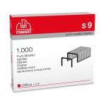 Punti S9 - 23/9 - acciaio - metallo - Romeo Maestri - conf. 1000 pezzi
