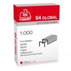 Punti eurostaples 64 Global - 6/4 - Romeo Maestri - scatola da 1000 punti