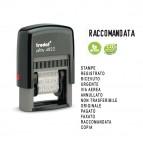 Timbro Printy Eco 4822 Polinome - 12 diciture - 4 mm - autoinchiostrante - Trodat®