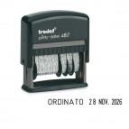Timbro Printy Dater Eco 4817 Datario + Polinomio - 3,8 mm - autoinchiostrante - Trodat®