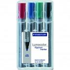 Marcatore Lumocolor Flipchart 356 - punta tonda - tratto 2,0mm - astuccio 4 colori - Staedtler
