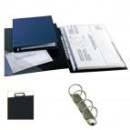 Raccoglitore Sanremo 2000 - 4 anelli tondi 30 mm - dorso 3 cm - 50x70 cm (libro) - nero - Sei Rota