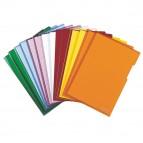 Cartelline a L - PVC - liscio - 21x29,7 cm - rosso cristallo - Esselte - conf. 25 pezzi