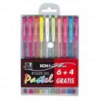 Roller gel colorati - colori pastel - Koh I Noor - astuccio 10 roller