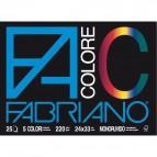 Fabriano Colore - 33x48 cm - assortiti - 220 g/mq - 25 fogli - 65251533