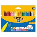 Plastidecor pastelli colorati - in plastica - colori assortiti - Bic - astuccio 24 colori