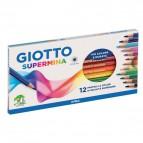 Pastelli Supermina Giotto - 3,8 mm - da 3 anni in poi - 235700 (conf.12)