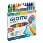 Confezione di pastelli a cera Giotto - 9 mm - da 3 anni in poi - 281200 (conf.12)