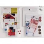 Busta con bottone Press 6E - PVC - 15x21 cm - trasparente - Sei Rota