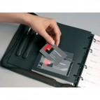 Portabiglietti da visita adesivi Durable - 57x90mm - 8093-19 (conf.10)