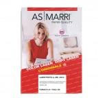 Carta laser - A4 - 200 gr - effetto lucido fronte/retro - bianco - As Marri - conf. 100 fogli