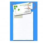 Biglietti da visita - 85 x 54 mm - 200 gr - angoli tondi - bordo liscio - bianco - Decadry - conf. 15 fogli da 10 biglietti