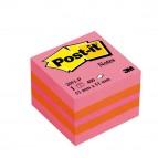 Blocco foglietti Minicubo - rosa melone, arancio neon, rosa neon - 51 x 51mm - 400 fogli - Post It