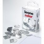 Fermagli angolari - alluminio - Molho Leone - conf. 100 pezzi