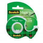 Nastro adesivo Scotch® Magic™ 810 con chiocciola - 19 mm x 7,5 mt - trasparente - Scotch®