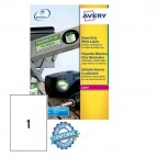 Etichetta in poliestere L4775 - adatta a stampanti laser - permanente - 210x297 mm - 1 etichetta per foglio - bianco - Avery - conf. 20 fogli A4