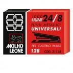 Punti 128 - 24/8 - metallo - Molho Leone - conf. 1000 pezzi