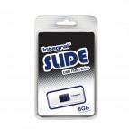 Chiavette USB Integral Slide - 8 GB - USB 2.0 flash drive - bianco - INFD8GBSLDWH