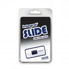 Chiavette USB Integral Slide - 16 GB - USB 2.0 flash drive - bianco - INFD16GBSLDWH