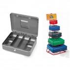 Cassetta portavalori Secur - 15x11x7 cm - grigio - Metalplus