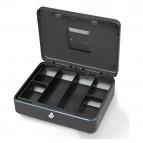 Cassetta portavalori Secur - 37x28x9 cm - grigio chiaro - Metalplus