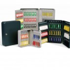 Cassetta portachiavi da muro - 37x28x7,5 cm - 128 posti - grigio antracite - Metalplus