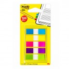 Segnapagina Post-it® Index Mini - 12x43,1 mm - 5 colori vivaci - Post-it - conf. 100 pezzi