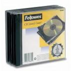 Custodia per CD singolo Jewel Case - base nera - pack 5 pezzi