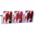 Kit Vision VS/3 - larghezza 75 cm - 3 tasche A4 trasparenti - Studio T