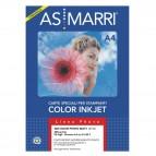 Carta fotografica inkjet - A4 - 200 gr - effetto opaco - bianco - As Marri - conf. 50 fogli