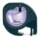 Nastro Letratag 122670 - 12 mm x 4mt - plastica - trasparente - Dymo