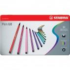 Pennarelli Stabilo Pen 68 in Scatola metallo - assortiti - 1 mm - da 7 anni - 6830-6 (conf.30)