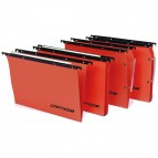 Cartella sospesa Cartesio Plus - armadio - interasse 33 cm - fondo V - 32,6x28 cm -  arancio - Bertesi