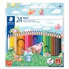 Astuccio 24 pastelli colorati 144 Noris Club - Staedtler
