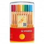 Fineliner Point 88 - colori assortiti - Stabilo - astuccio color parade 20 colori