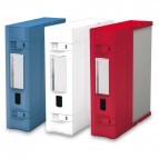 Scatola archivio Combi Box E600 - dorso 9 cm - 29,8x36,2 cm - bianco - Fellowes