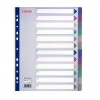 Separatore - 12 tasti - PP traslucido - A4 maxi - 24,5x29,7 cm - multicolore - Esselte