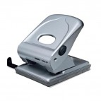 Perforatore FMC40 - massimo 40 fogli - 2 fori - passo 8 cm - argento - Rapid