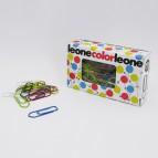 Fermagli colorati metallizzati N.3 - lunghezza 28 mm - colori assortiti - Molho Leone - conf. 100 pezzi