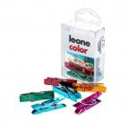 Mini mollette - colori metallizzati assortiti - Leone - conf. 10 pezzi