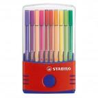 Pennarello Pen 68  punta feltro - tratto 1,00mm - 20 colori - Stabilo - conf. 10 pezzi