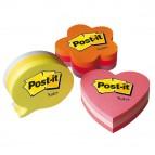 Blocco foglietti cuore - rosa neon, rosa ultra, rosa pastello - 70 x 70mm - 225 fogli - Post It