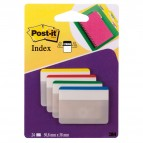 Segnapagina Post-it® Index Strong - per archivio - 50,8x38 mm - colori classici - Post-it - conf. 24 pezzi