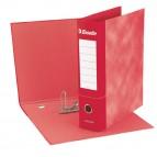 Registratore Essentials G75 - dorso 8 cm - protocollo 23x33 cm - rosso - Esselte