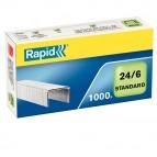 Punti Rapid Standard - 24/6 - acciaio zincato - metallo - Rapid - conf. 1000 pezzi